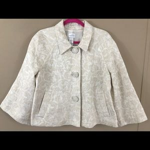 Emma James Ivory Brocade Jacket